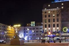 Hanukkah near hotel Stock Image