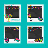 Hanukkah Photo frames. Decorative photo frame templates for events or memories. Scrapbook photo frame concept, vector Royalty Free Stock Image