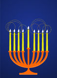 Hanukkah's chandelier. Lighting, vector illustration Royalty Free Stock Image
