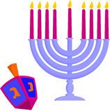 Hanukkah's elements Stock Images