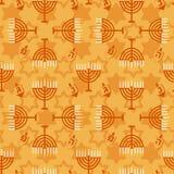 Hanukkah seamless pattern Stock Images