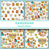 Hanukkah seamless pattern collection. Royalty Free Stock Photography