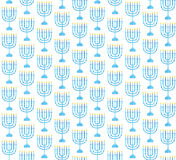 Hanukkah seamless pattern. Hanukkah background with Menorah.. Happy Hanukkah Festival of Lights, Feast of Dedication seamless texture. Hanukkah seamless Royalty Free Stock Photography