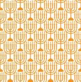 Hanukkah seamless pattern. Hanukkah background with Menorah Stock Images