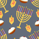 Hanukkah seamless pattern Royalty Free Stock Image