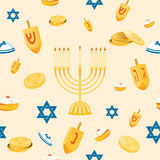 Hanukkah seamless pattern Stock Images