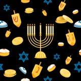 Hanukkah seamless pattern Stock Image