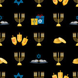 Hanukkah seamless pattern Royalty Free Stock Photos
