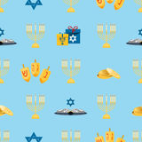 Hanukkah seamless pattern Royalty Free Stock Photography