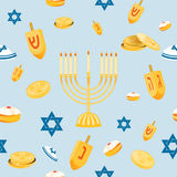 Hanukkah seamless pattern Stock Photography