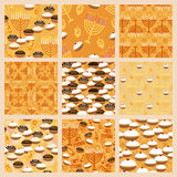 Hanukkah seamless pattern set Royalty Free Stock Image
