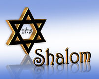 Hanukkah Shalom Jewish Star Stock Image