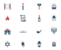 Hanukkah simply icons Stock Images
