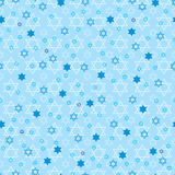 Hanukkah star blue pastel symmetry seamless pattern Stock Photography