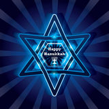 Hanukkah star happy bright effect Stock Photo