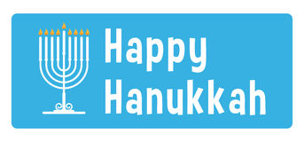 Hanukkah sticker. Hanukkah blue sticker with candle Royalty Free Stock Image