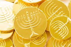 Hanukkah. A still life composed of elements of the Jewish Chanukah/Hanukkah festival Royalty Free Stock Photo