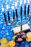 Hanukkah. A still life composed of elements of the Jewish Chanukah/Hanukkah festival