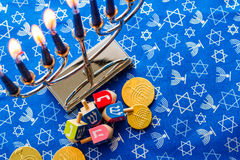 Hanukkah. A still life composed of elements of the Jewish Chanukah/Hanukkah festival royalty free stock images