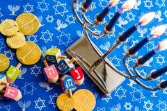 Hanukkah. A still life composed of elements of the Jewish Chanukah/Hanukkah festival Stock Photo