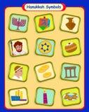 Hanukkah Symbols. Colorful set of twelve Hanukkah symbols. Eps10