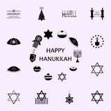 hanukkah symbols icon. Hanukkah icons universal set for web and mobile vector illustration