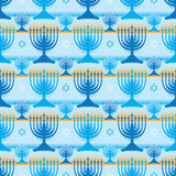 Hanukkah symmetry many stripe seamless pattern Royalty Free Stock Images