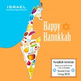 Hanukkah tło Zdjęcia Royalty Free