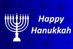 Hanukkah Typographic Vector Design - Happy Hanukkah. A vector illustration