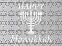Hanukkah Typographic Vector Design - Happy Hanukkah. A stock illustration