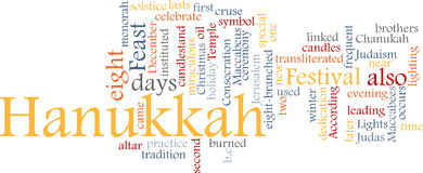 Hanukkah word cloud Stock Images