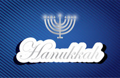 hanukkah work text sign and candles Royalty Free Stock Photos
