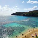 Hanuma zatoka Oahu Hawaje fotografia royalty free