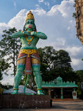 Hanuman阁下在黑风洞的神雕象在吉隆坡,马来西亚 库存照片