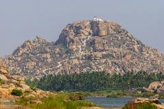 Hanuman świątynia na Anjanadri wzgórzach, Hampi, Karnataka, India fotografia royalty free