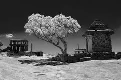 Hanuman świątynia na Hemakuta wzgórza świątynnym kompleksie w Hampi wewnątrz ja zdjęcia stock