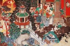 hanuman ζωγραφική στοκ εικόνες