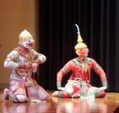 Hanuman ο δυνατός σε Khon Ramakien Στοκ φωτογραφία με δικαίωμα ελεύθερης χρήσης
