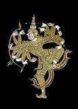 Hanuman στο Μαύρο Στοκ εικόνα με δικαίωμα ελεύθερης χρήσης