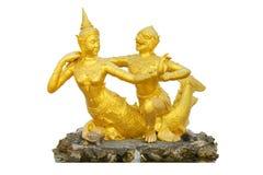 Hanuman и статуя русалки Стоковая Фотография