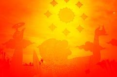Hanuman стикера на стекле , Тон апельсина влияния стоковое изображение rf
