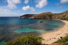 The hanuman bay in Hawaii Stock Image