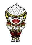 Hanuman bielu małpa rysuje cześć, wektorowa projekt ręka rysująca ilustracji