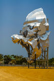 Hanuman der Affegott Weiße Schablone und Saxophon Stockfoto