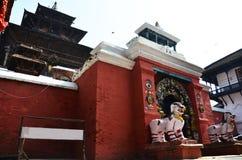 Hanuman Dhoka在Basantapur Durbar广场在加德满都尼泊尔 免版税库存图片