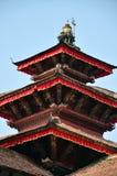 Hanuman Dhoka屋顶在Basantapur Durbar广场的在加德满都 库存照片