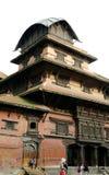 Hanuman Dhoka Durbar在中央加德满都和ge中位于 免版税库存图片