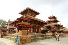 Hanuman Dhoka Durbar è situato a Kathmandu ed il GE centrali Immagine Stock Libera da Diritti