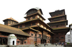 Hanuman Dhoka Durbar é situado no Kathmandu e no ge centrais Fotografia de Stock