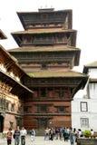 Hanuman Dhoka Durbar é situado no Kathmandu e no ge centrais Fotos de Stock